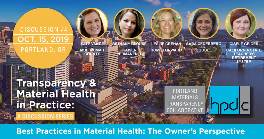 Best Practices in Material Health: The Owner's Perspective