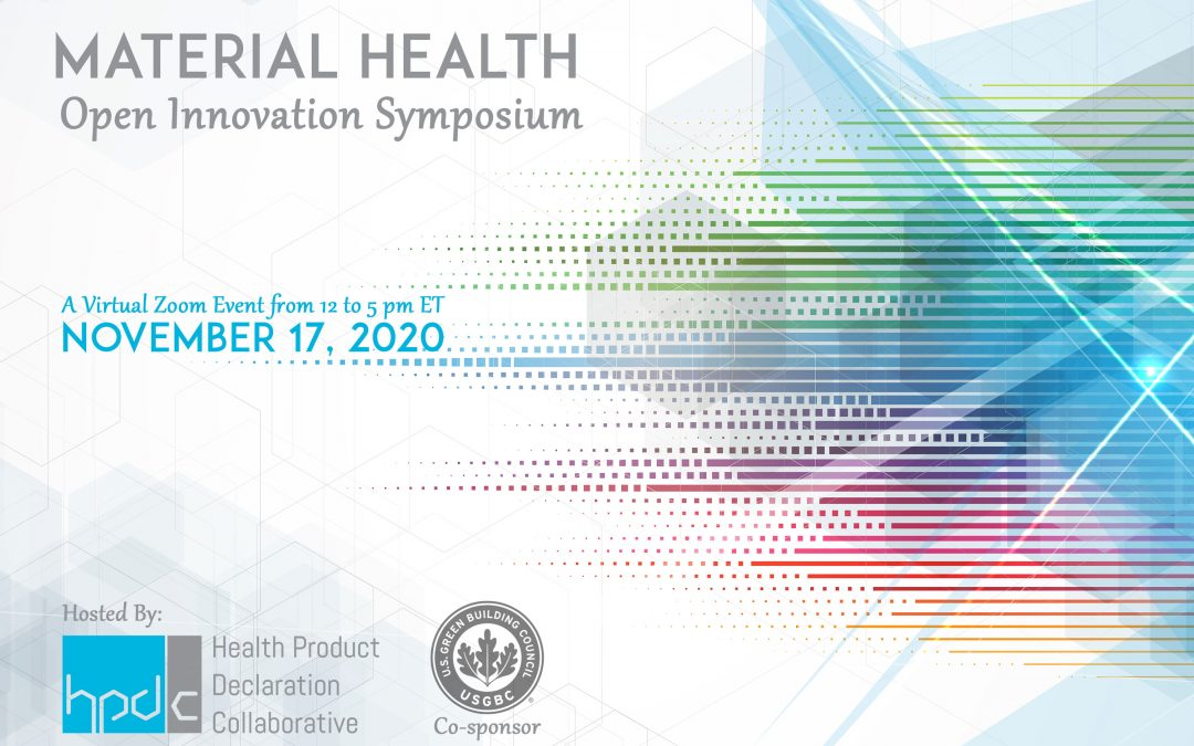 HPD Collaborative to Host Material Health Open Innovation Symposium